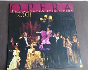 2001 Metropolitan Opera Calendar, Opera Photos, Beth Bergman Photographs, Upcycle Recycle Calendar, Theatre Opera Color Collage Photos,