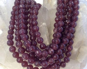 50% Mega Sale 3A Quality Lepidolite Round Gemstone Beads (6mm)