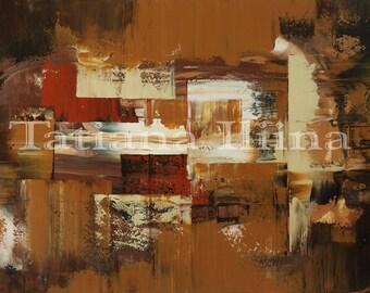 Originele abstract schilderij canvas print moderne uitgerekt klaar-om-hang schoenmakers BENCH - door kunstenaar Tatiana Iliina - gratis verzending van Canada VS