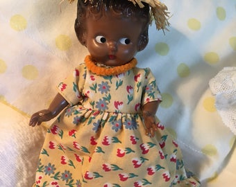 1950s Knickerbocker Black Doll Rattle