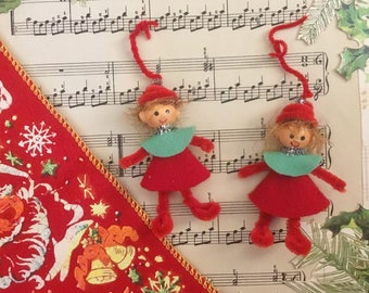 Two Little Elf Ornaments