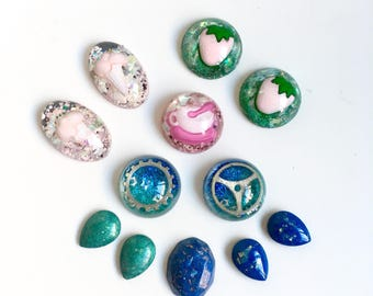 Set Cabochon Resin Fun