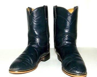 Broken in Dark Blue Roper style Cowboy boots mens size 6 D / womens size 7.5