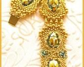 Beaded Bracelet Tutorial - Scarab - Peyote Stitch