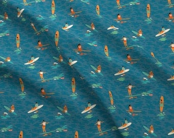 Surf Goddess Fabric - Surf Goddess By Tasiania - Summer Surfing Beach Decor Cotton Fabric By The Yard With Spoonflower