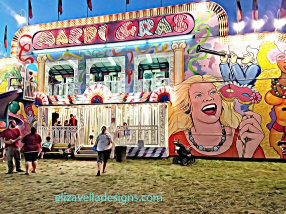 Carnival Fun house abstract printable wall art instant download printable art digital download printable wall decor  Elizavella