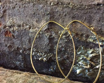 Simple solid brass hoops
