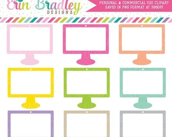 80% OFF SALE Computer Monitor Clipart Graphics