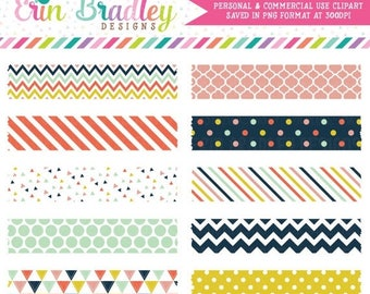 80% OFF SALE Digital Washi Tape Clipart Craft Party Collection