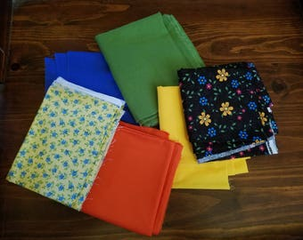 Lot of Fabric Pieces for Quilting or Other Craft Projects