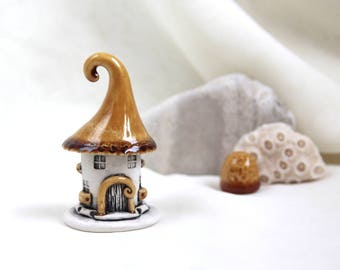 Honey-milk House of tiny fairies -- unique Hand Made Ceramic Eco-Friendly Home Decor by studio Vishnya