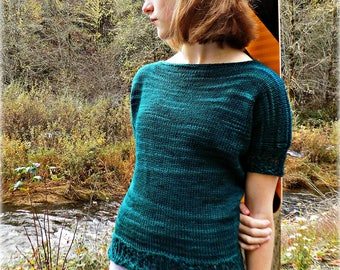 Temptation T-Shirt Knitting Pattern PDF Download