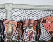 Halloween Banner Halloween Garland Halloween Decoration Vintage Retro Style