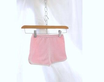 Vintage Girls Shorts Terry Cloth Shorts sz 4 - 5 Shorts Pink Terry Shorts Girls Gym Shorts Vintage 80s Shorts Pink White Shorts Retro Shorts