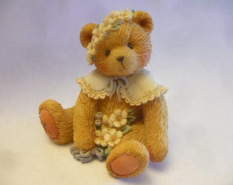 Cherished Teddies, May, May Bear, 1993, Enesco,Registered, No Box, Excellent Condition, Teddy Bear Figurines, Vintage Teddy