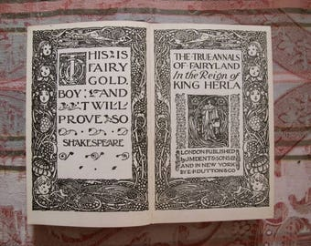 Vintage Fairy Tale Book, Annals of Fairyland King Herla-Illustrations by C. Robinson. Everyman's Library Printing London J.M. Dent & Sons