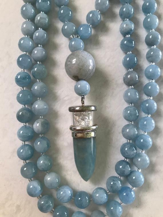 Aquamarine Mala/Prayer Beads