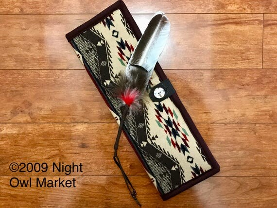 Feather Holder / Feather Case Wool Mini Spirit of the People