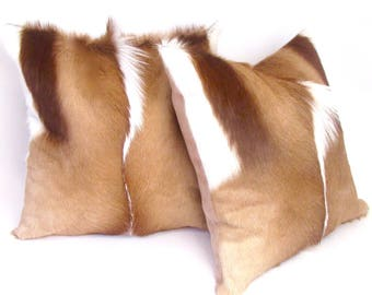 Brown and White Fur Pillow ~ BEST SELLER!