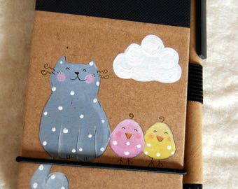 Mini clipboards with illustrated cover cat chicks