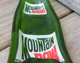 MOUNTAIN DEW Slumped Vintage Soda Bottle Spoon Rest