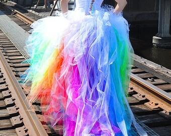 PAYMENT Vivid Rainbow Wedding Dress