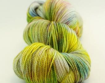 BIG SUMMER SALE New Rise Up - Jest Sparkle 2ply Merino/Nylon/Stellina Sock - Chicka Plow
