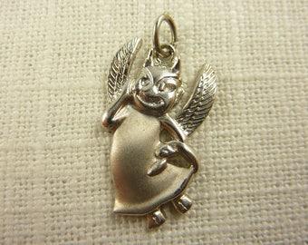 Vintage Wells Sterling Angel/Devil Charm