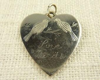Vintage Sterling Love Birds Charm