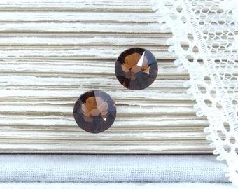 Brown Studs Rhinestone Studs Brown Stud Earrings Brown Crystal Studs Surgical Steel Studs Brown Jewelry