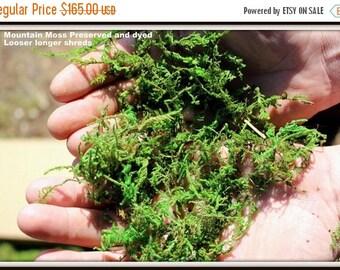 Save25% Wholesale 10 Pound BULK Moss Preserved box-Sphagnum moss for baskets-Wedding Moss