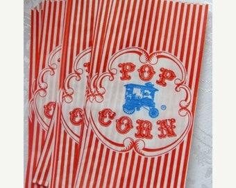 ONSALE Darling nostalgic Vintage Circus Carnival Popcorn Bags for Altered art