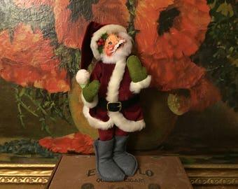 Santa Doll Vintage Christmas Holiday Decor Annalee Dolls