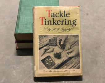 Tackle Tinkering Book Fishing Lures Handmade Vintage 1946 Distressed Hardcover