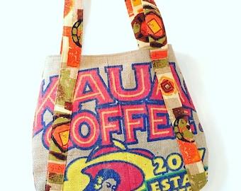 Coffee Sack Purse / Handbag/ Kauai Coffee Company