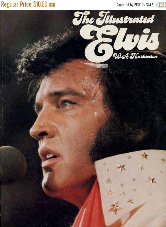 Christmas in July Sale 1976 vintage book Elvis Presley-The Illustrated Elvis by W.A. Harbinson soft cover Grosset & Dunlap