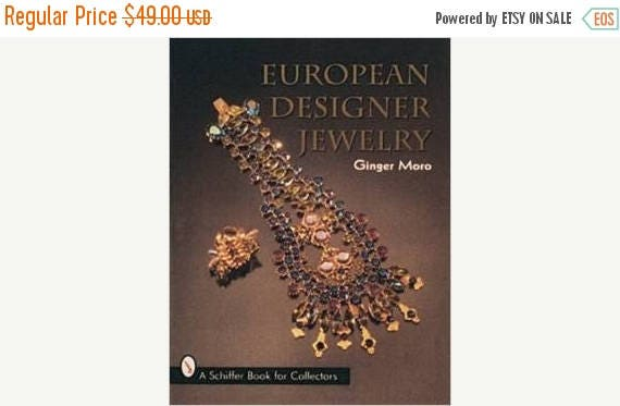 Christmas in July Sale Signed copy European Designer Jewelry Schiffer Book for Collectors by Ginger Moro hardcover reference book