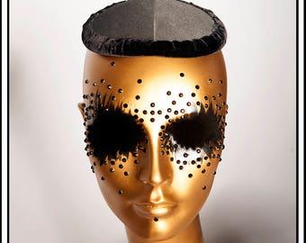 Large Fascinator Hat Base Black with Lining... Base For Headdress Hat Millinery Foam DIY