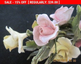 Antique Porcelain Roses Boudoir Chic