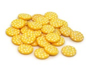 Yellow Spotty Buttons / Yellow Sewing Buttons / Polka Dot Buttons / Craft Buttons / Sewing Supplies / Yellow Button Lot / Scrapbook Buttons