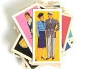Assorted Vintage British Costume Brook Bond Tea Cards for Scrapbooking Ephemera Junk Travel Bullet Journals Project Life Daily PLanner Bujo