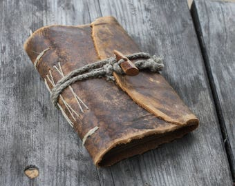 Leather writing journal diary with closure medieval journal guest book travel journal