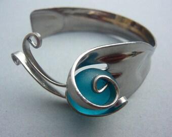Curaçao Sissi strand steel fork bracelet
