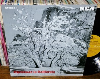 Christmas in California Vintage Vinyl Compilation Record