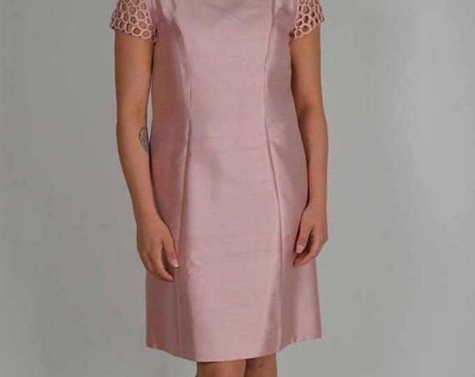 sale Pink Dress, Shift Dress, Vintage Dress, 60s Dress, Cocktail Dress, Party Dress, Fancy Dress, 1960s Dress, Mod Dress