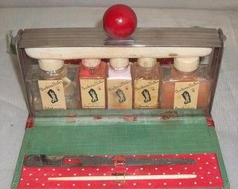 ON SALE Vintage Barbara Bates Manicure Set Polish Remover Oil Lotion