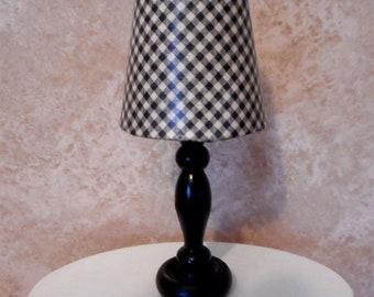 Barbie Black Checkered Lamp