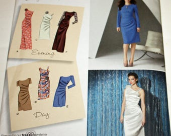 UNCUT, Simplicity 2053, Sewing Pattern, Dress in Two Lengths with Bodice Variations, Misses' Size 6 to 14, OLD2NEWMEMORIES