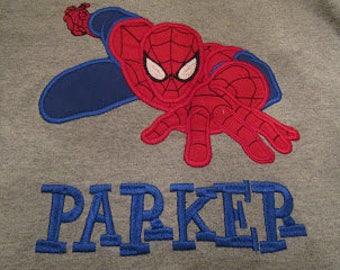 Custom Spiderman Applique Shirt