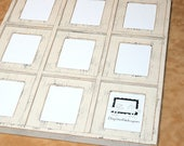 """RESERVED for Julie 3) divider bar picture frames 3 vertical 5"""" x 7"""" in WR oregano from 2 Dogs Wood Working"""
